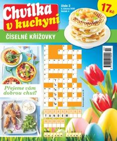 Chvilka v kuchyni Číselné křížovky č. 2 / 2020